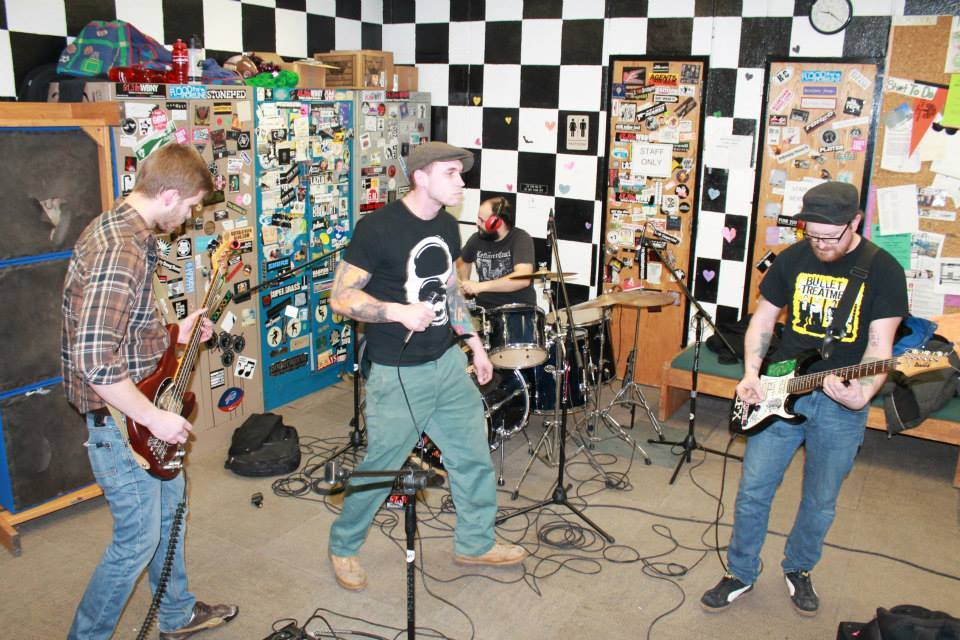Band playing show in studio
